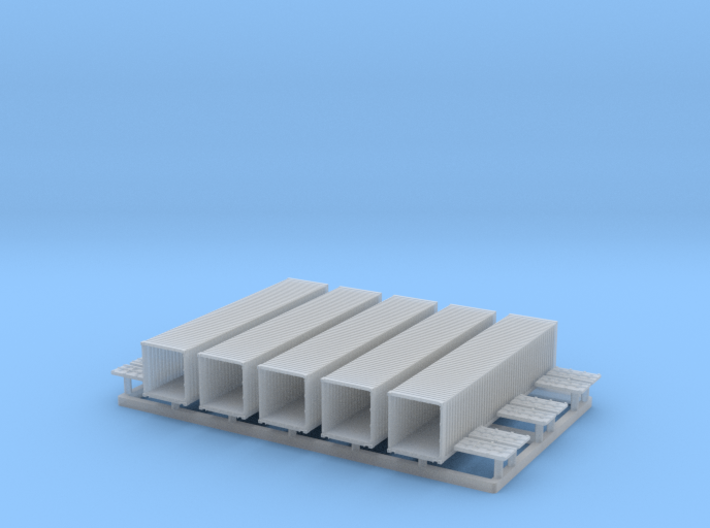 40' Shipping Container 1/350 3d printed