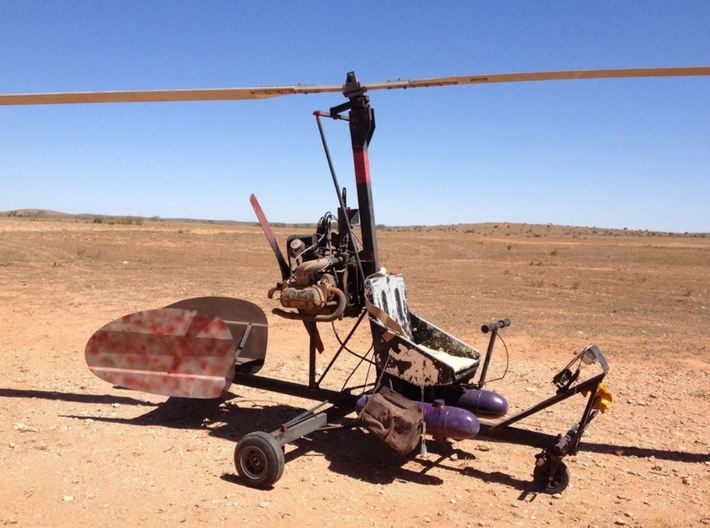 Mad Max gyrocopter 1/64 scale (28mm) 3d printed