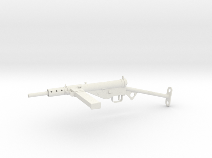 1/6th scale Sten MkII - T-bar Stock 3d printed