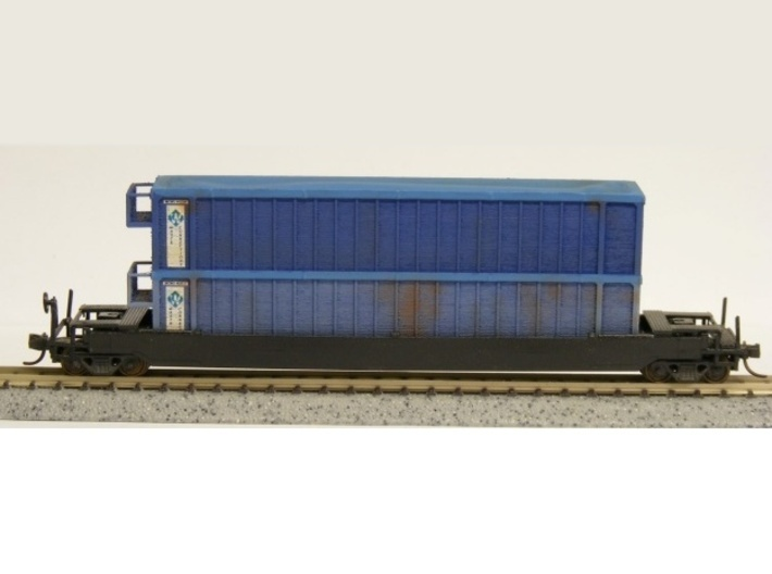 Trash Gondola Double Stack 48foot - Nscale 3d printed Painting and Photo by Jeff King