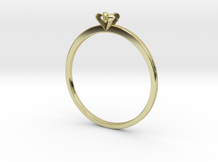 Plain Size 7 Ring - 3mm Gem - 4 prong - v5 3d printed