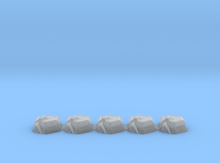 5x War gaming Bunkers (3mm Scale) 3d printed