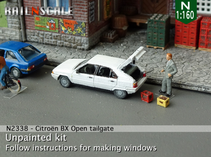 Citroën BX with open tailgate (N 1:160) 3d printed