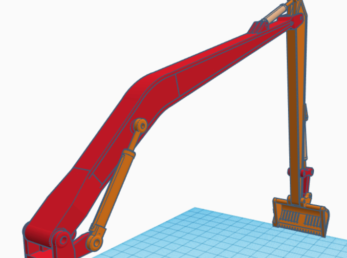 1/50th Long boom and stick for Excavator 3d printed