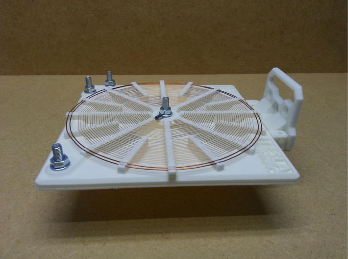Tesla Flat Spiral Coil Base Set - 140mm 3d printed Coil with optional stand in horizontal position