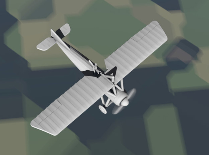 Morane-Saulnier Type P (French MoS.21, multiscale) 3d printed Computer render of 1:144 French MoS.21