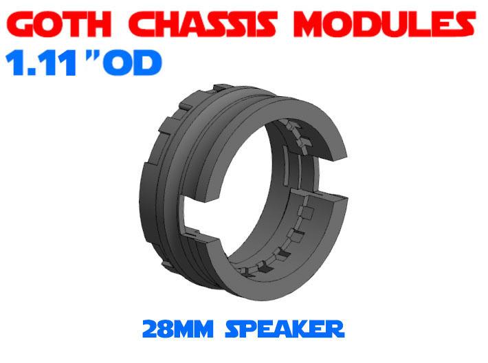 GCM111-03-03 - 28mm Bass speaker holder 3d printed