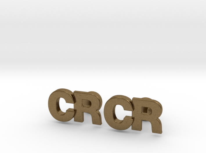 Monogram Cufflinks CR 3d printed