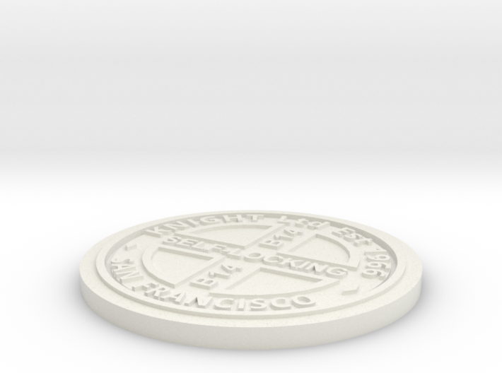 1:9 Scale Manhole Cover - Knights Type B 3d printed