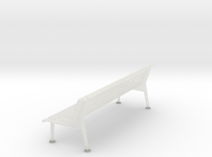 RhB Bench With Backrest  3d printed