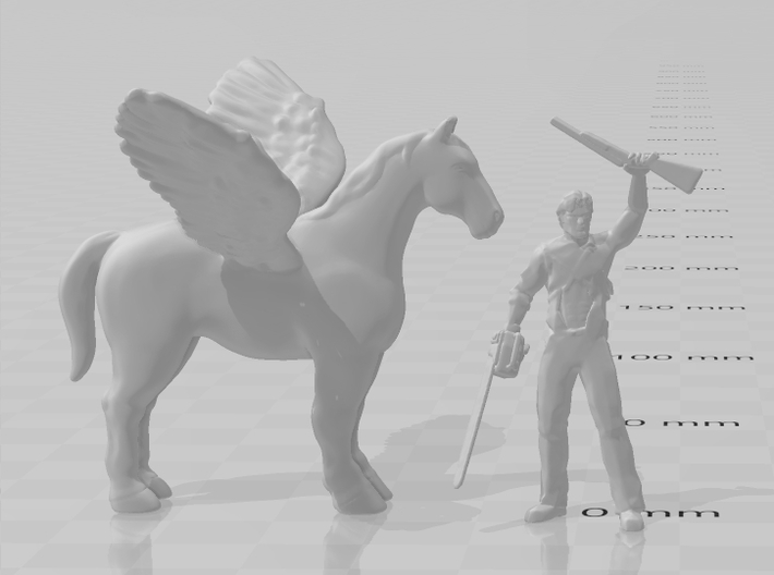 Pegasus 1/60 DnD miniature fantasy games and rpg 3d printed