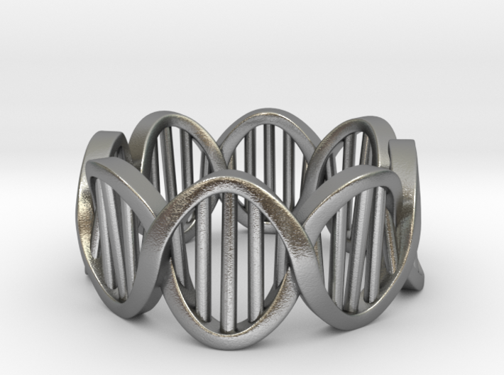 DNA Ring (Size 5) 3d printed