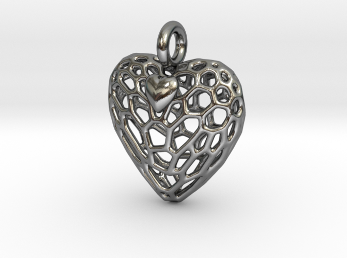 Caged Heart Escaping 3d printed