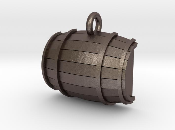 Keg / Barrel Pet Tag 3d printed Shown in optional bronze finish