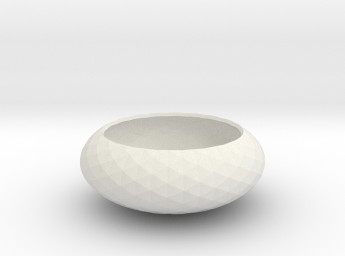 Spirals wrapped around bowl 3d printed