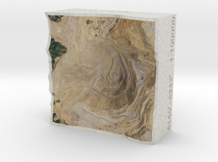 Bingham Copper Mine (Post), Utah, USA, 1:100000 3d printed