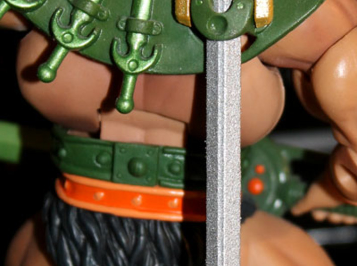 MOTUC Alcala First Sword 3d printed Also fits the scabbard of the MOTUC Tri-Klops figure