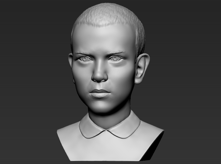 Eleven from Stranger Things bust 3d printed