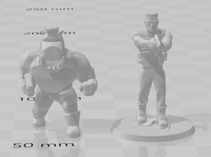 Pigcop Classic miniature for games rpg scifi DnD 3d printed