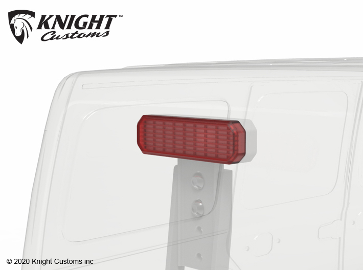 KCJL1017 JL Tire Carrier light lens 3d printed Part shown painted clear read and fitted to theKCJL1016 JL Tire Carrier w light (sold separately).