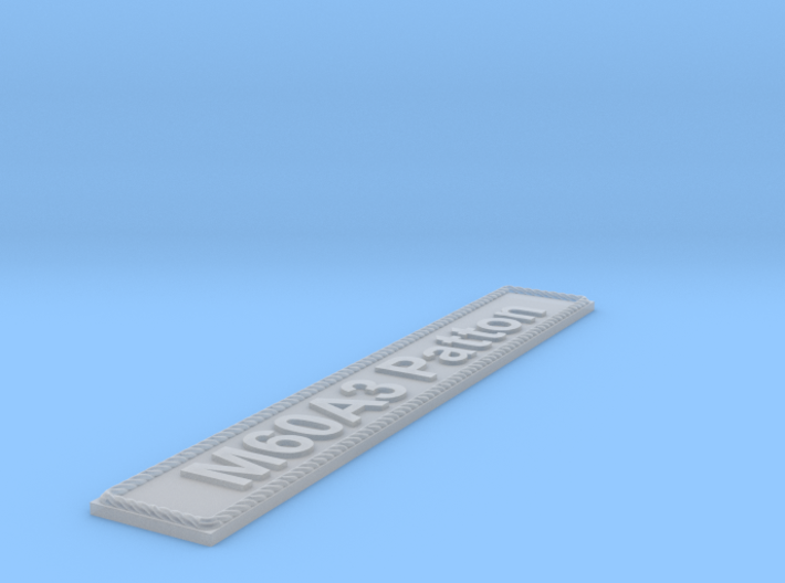 Nameplate M60A3 Patton 3d printed