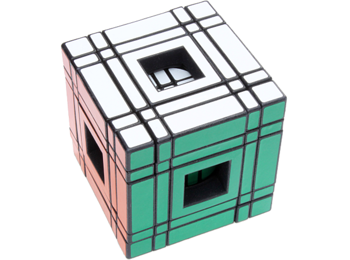 Window Real5x5x5 3d printed Solved (Back)