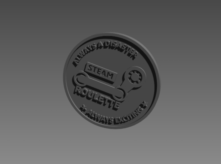 Inside Gaming Coin 3d printed back