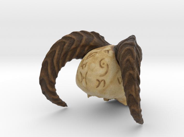 Horned Demonic Skull, Matilda 3d printed