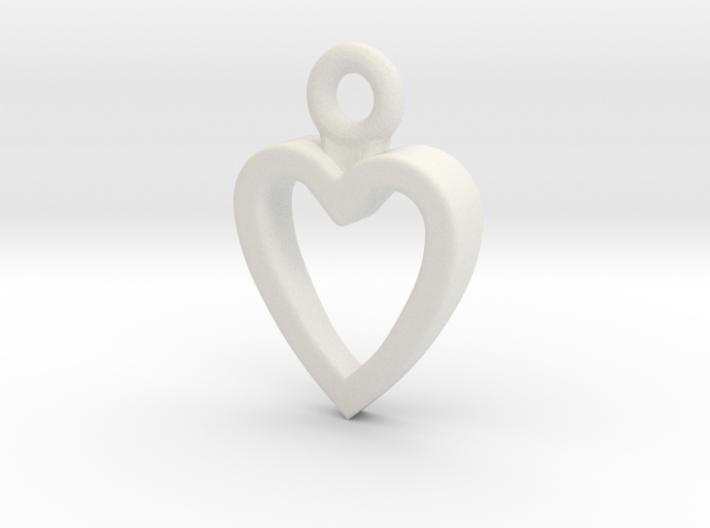 Heart Charm / Pendant / Trinket 3d printed