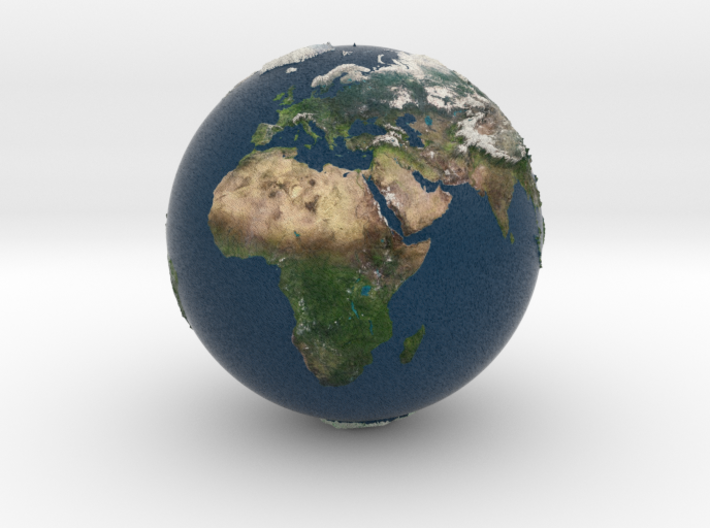 earth relieve 3d printed
