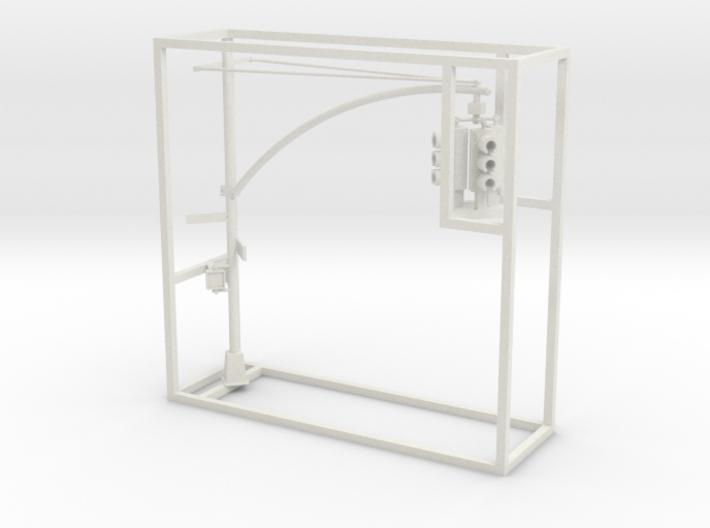 Traffic Light - NYC - HO 3 head pipe arm 3d printed
