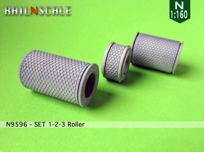 1-2-3 Rollers | Row paving pattern with border (N) 3d printed