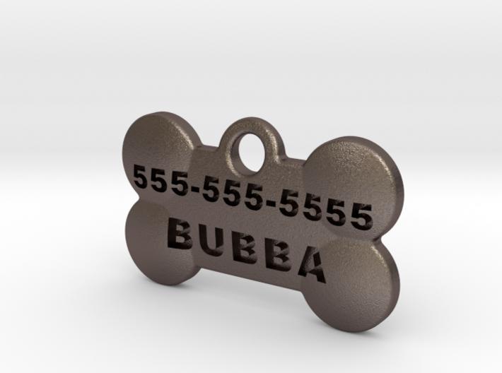 BubbaTag, Dog Bone, Small 3d printed
