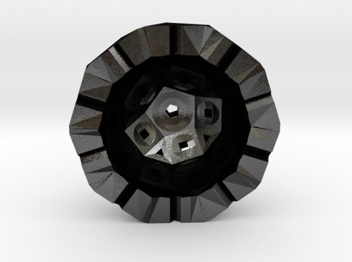 Rhombicosidodecahedron half 3d printed