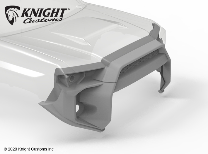 KCTR1021 4Runner Gen5 Grill High Clearance 3d printed Part shown painted gray but comes in white natural plastic