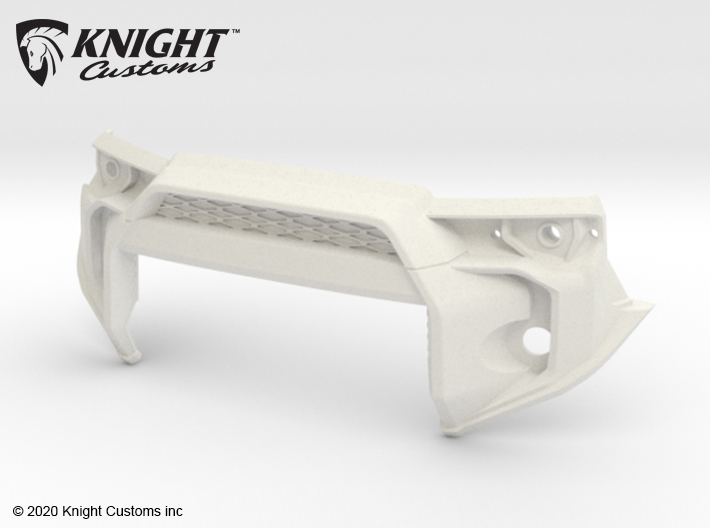 KCTR1021 4Runner Gen5 Grill High Clearance 3d printed Part as it comes from Shapeways