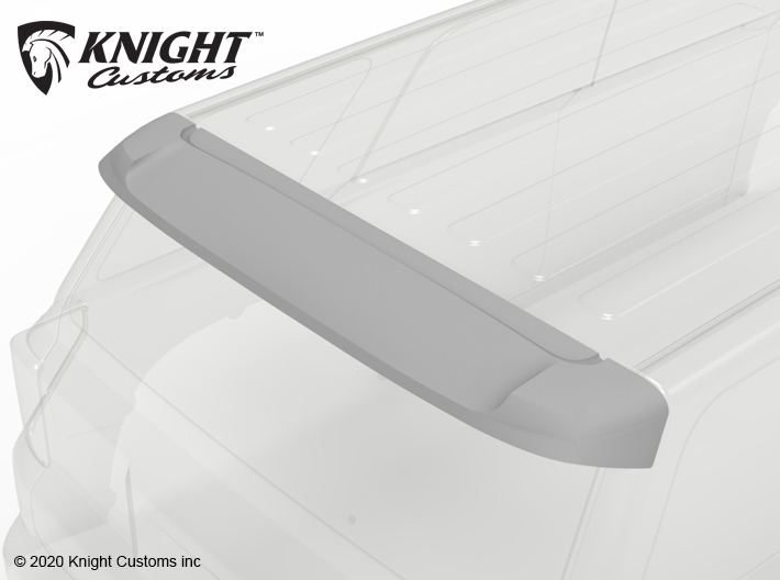 KCTR1022 4Runner Gen5 Rear Spoiler 3d printed Part shown gray but comes printed in white.