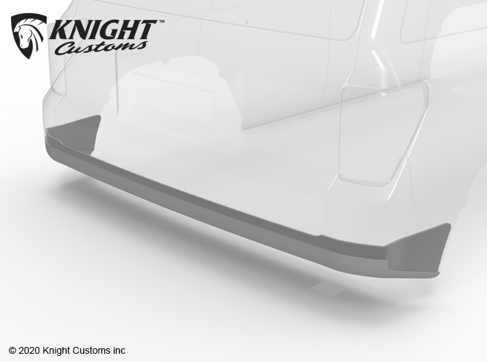 KCTR1023 4Runner Gen5 bumper delete 3d printed Part shown painted gray but comes printed in white.