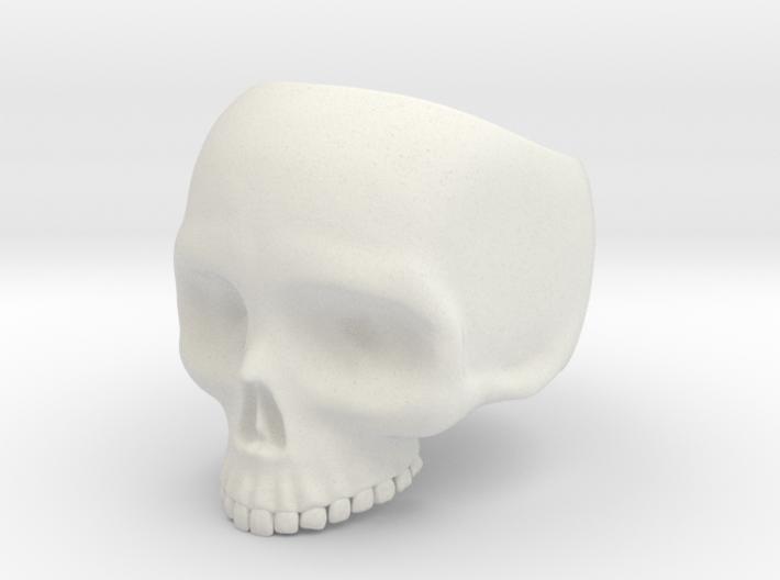 Skull Ring v2 - Size 6 3d printed