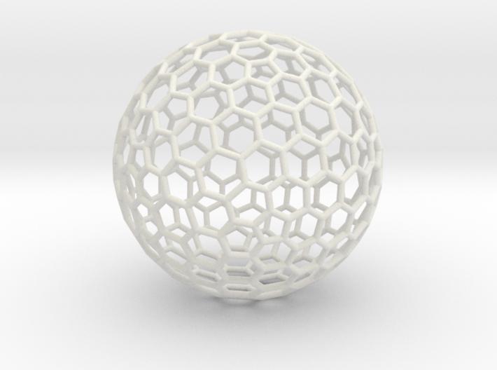 Goldberg Polyhedron[3,2], round struts 3d printed