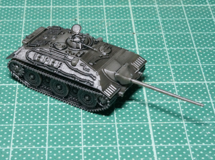 1/144 WWII Geman E-25 tank destroyer 3d printed Inked 3D print