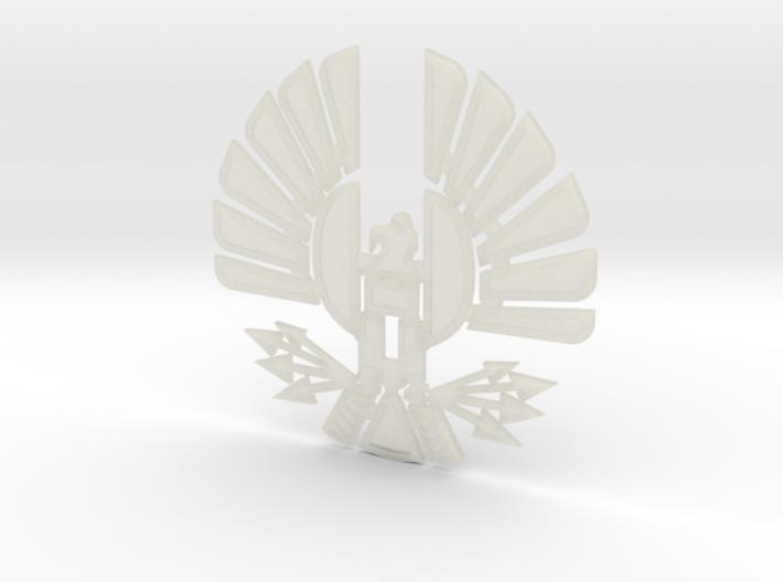 'Mockingjay' Panem Sigil Pendant for neclace 3d printed Transparent