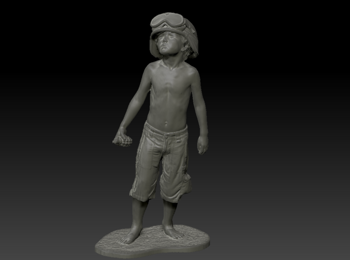 Schoony - Boy Soldier (15cm Tall) 3d printed