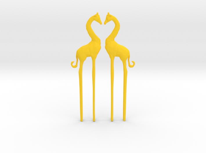 Giraffe in Love Caketopper 2X 3d printed