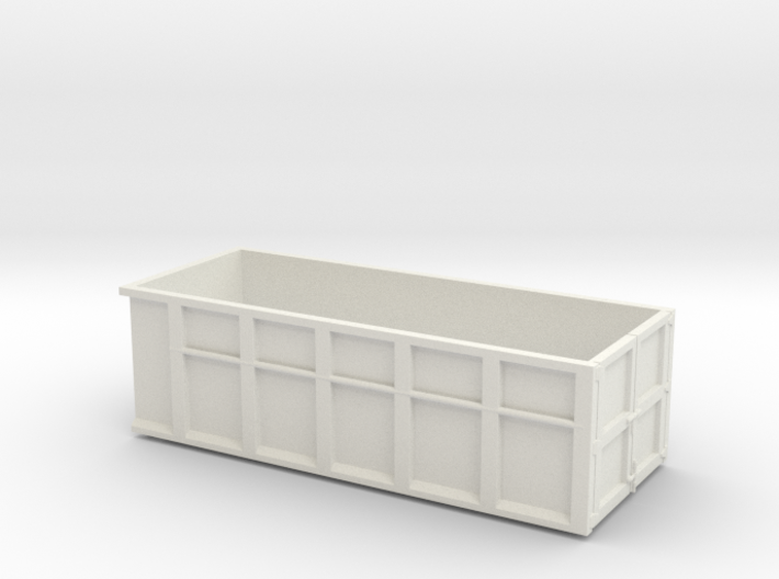 1/64th 10 foot Roll off type Dumpster 3d printed