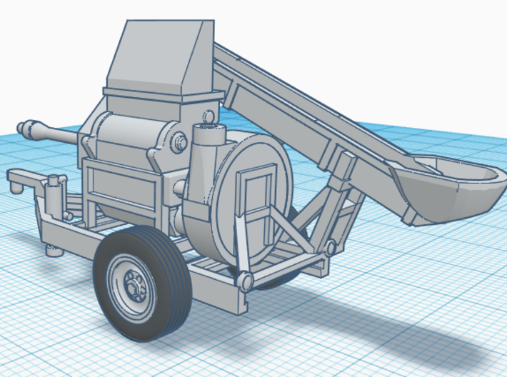 1/87th Henke Kwik Crusher Agriculture Roller Mill 3d printed