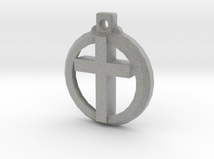 Reversible Latin Cross Pendant 3d printed