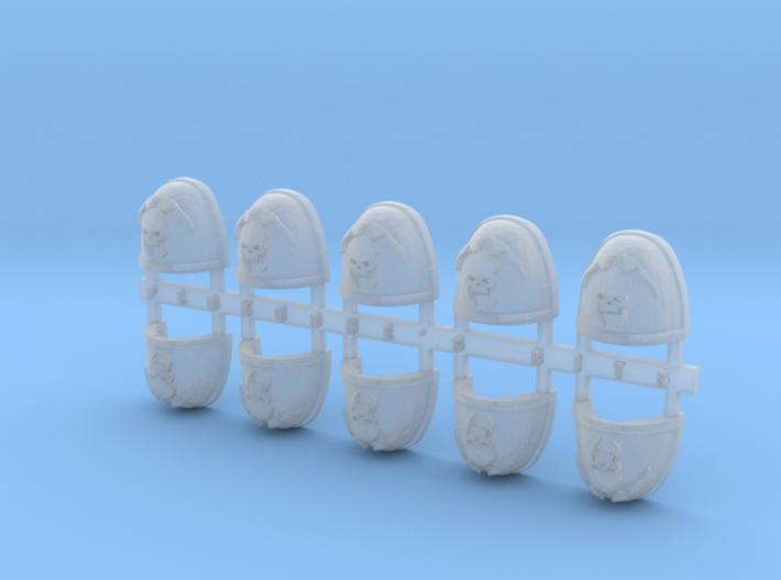 Skull & Scythe V.8 Shoulder Pads x10 3d printed
