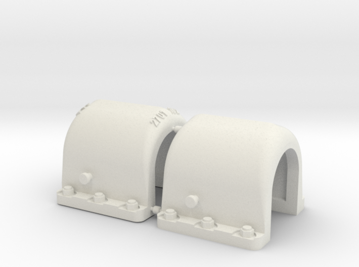 1/16 Tiger 1 Exhaust armoured guards 3d printed