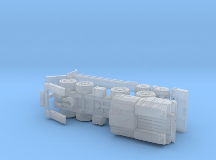 MAZ 543 / CHmZAP 5247 Tank Transporter 1/285 3d printed